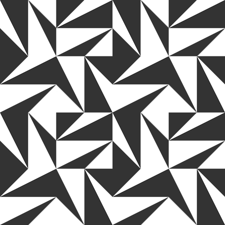 Abstract geometric seamless pattern. Black and white. Vector illustration
