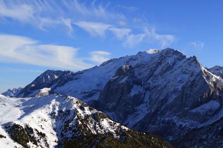 fassa: Mountain Gran Vernel  Campitello di Fassa, Val di Fassa, Dolomiti, Alpes, Italy Stock Photo