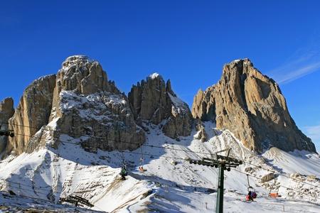 fassa: Mountains Sassolungo in Dolomiti, Campitello di Fassa, Val di Fassa, Dolomiti, Alpes, Italy