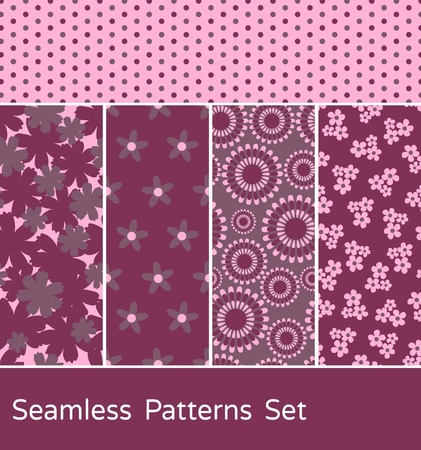 vibrant: A set of 5 colorful seamless patterns.