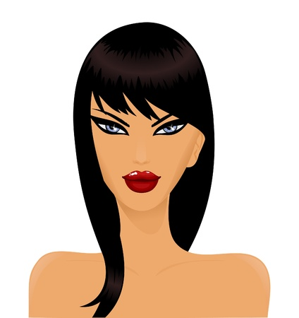 Portrait of a beautiful brunette woman Vector