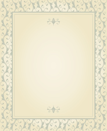 Greeting card template in vintage style. Elements are grouped and layered for easy editng. Vector