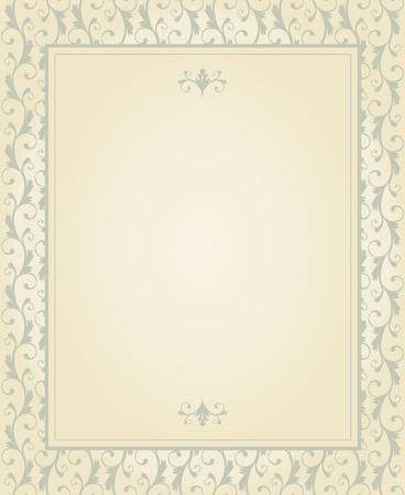 eleganz: Grußkarte Vorlage im Vintage-Look. Elemente werden gruppiert und für einfache editng geschichtet.