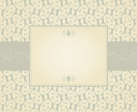 Greeting card template in vintage style. Elements are grouped and layered for easy editng. Stock Vector - 12027161