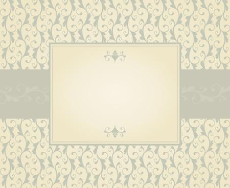 cartoline vittoriane: Modello di scheda di auguri in stile vintage. Gli elementi sono raggruppati e stratificato per editng facile.