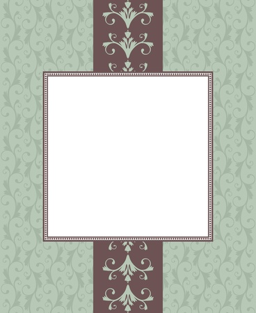 vintage retro frame: Greeting card template in vintage style. Elements are grouped and layered for easy editng.