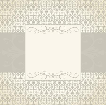 tarjeta de invitacion: Plantilla de tarjeta de felicitaci�n en el estilo vintage. Los elementos se agrupan y en capas de editng f�cil. Vectores