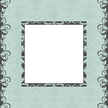 victorian anniversary: Greeting card template in vintage style. Elements are grouped for easy editng.