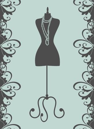 mannequin: Vector illustration des éléments de mannequin d'un tailleur noir sont regroupés et couches pour faciliter le montage