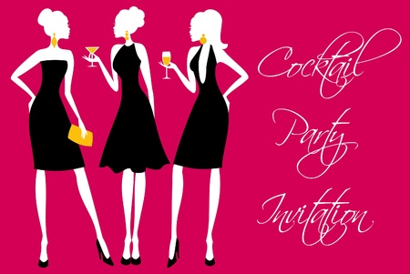 Invitation for a girls Stock Vector - 13421608