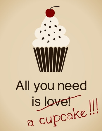 All you need is a cupcake card in vintage style.