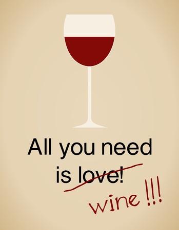 Alles was Sie benötigen ist Weinkarte im Vintage-Look.