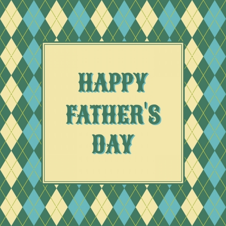 father day: A greeting card template for father Illustration