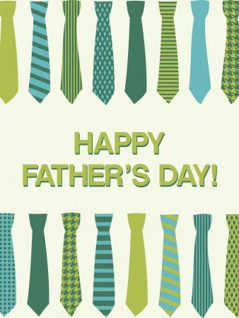 neckties: Una plantilla de tarjeta de felicitaci�n para el padre Vectores