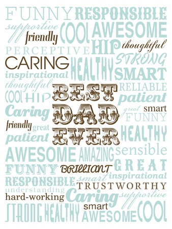 best dad: A typography design greeting card for father