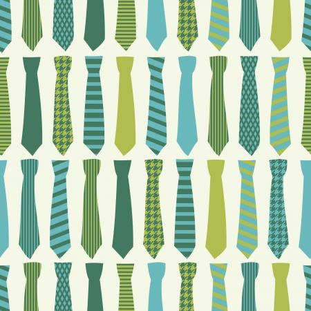 Patrón sin fisuras con las corbatas