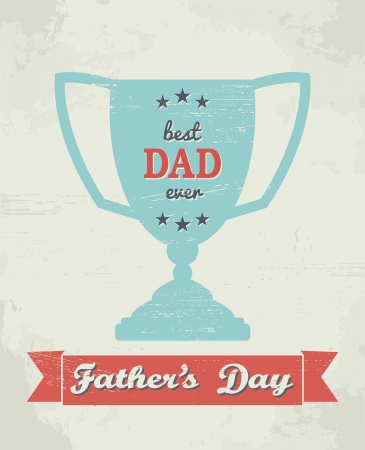 cute cards: A greeting card template for Fathers Day.