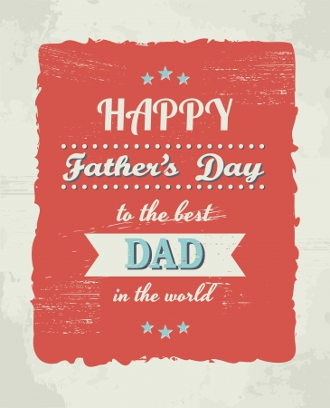 father's: A greeting card template for Fathers Day.