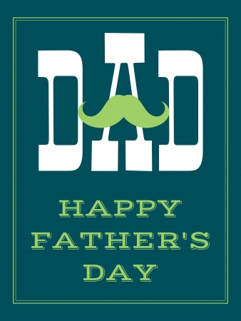 father day: Greeting card design for Fathers Day.