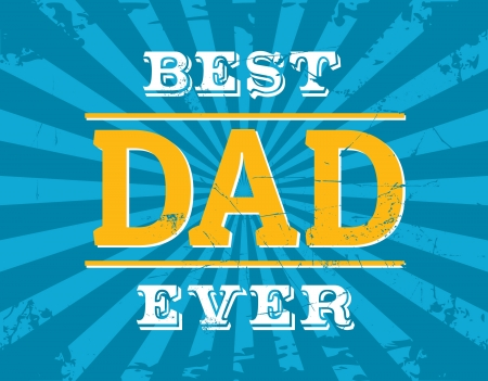 Greeting card design for Father's Day. Vector