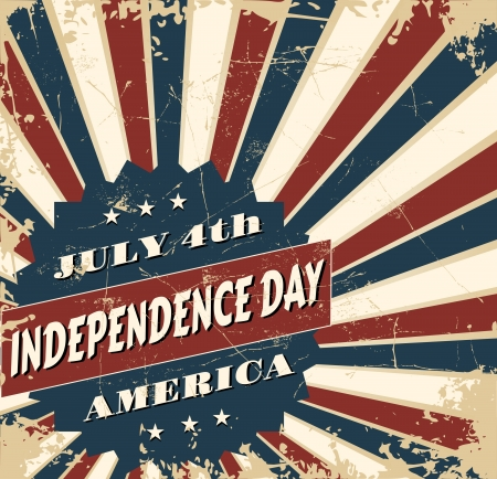 Greeting card design for Independence Day. Vector
