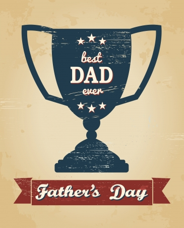 Greeting card design for Father Vector
