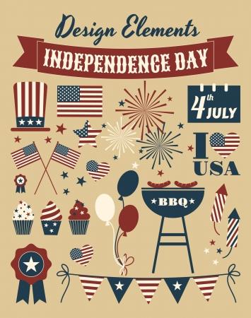 independencia: Un conjunto de elementos de dise�o para el D�a de la Independencia