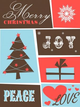 greet: Greeting card design for Christmas  Illustration