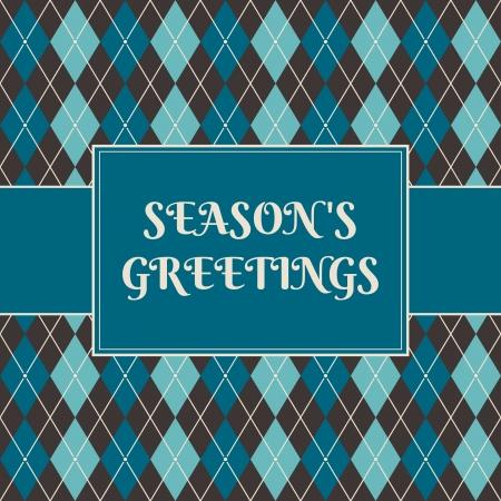 Christmas greeting card design. Vector