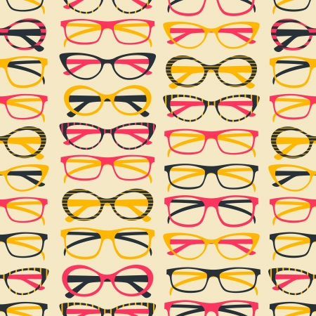 Seamless pattern with colorful sunglasses  Vector