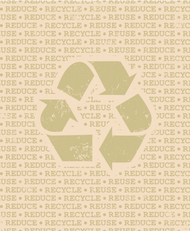 Cool poster with recycle symbol  Vector