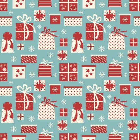 Seamless tiling pattern with Christmas presents  Stock Vector - 16160391