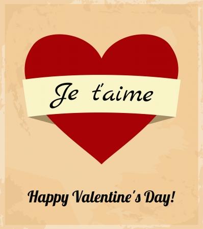 Valentine s Day Retro Greeting Card Stock Vector - 17240001