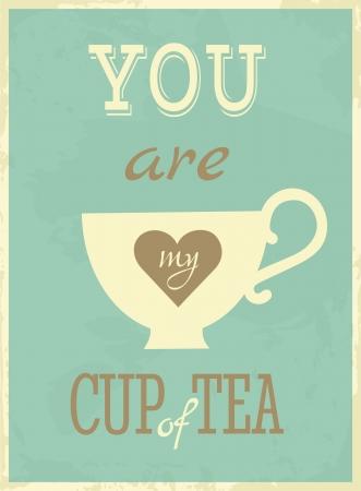 tazza di te: Valentine s Day Card Retro auguri