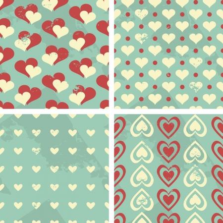 Día de San Valentín s Seamless Patterns Set