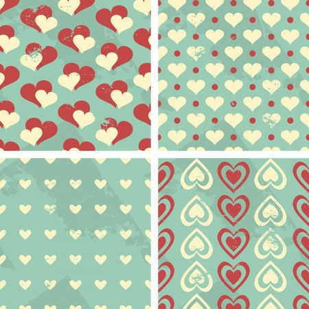 Valentine s Day Seamless Patterns Set Vector