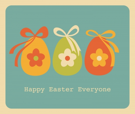 Retro style design for Easter greeting card. Stock Vector - 17688922