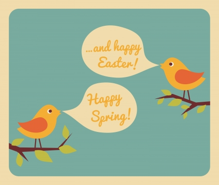pasqua: Retro style design for Easter greeting card. Illustration