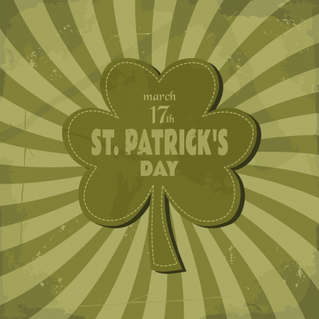 Vintage design for St. Patricks Day. Vector