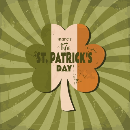 Vintage design for St. Patrick's Day. Stock Vector - 17688906
