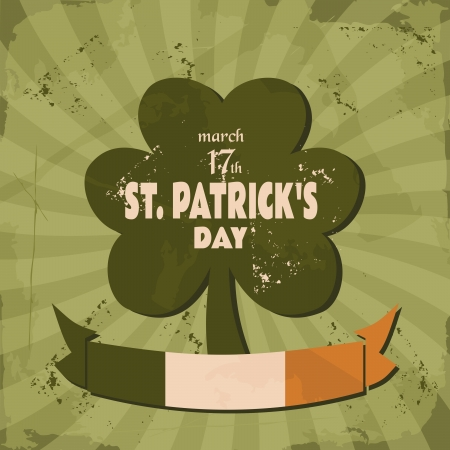 clover banners: Vintage design for St. Patricks Day.