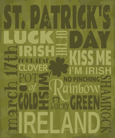 march 17: Vintage design for St. Patricks Day.