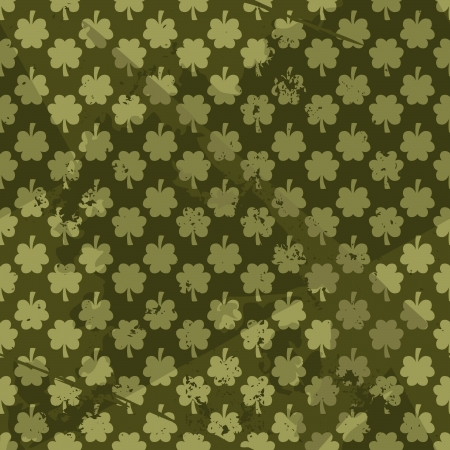 Grungy St. Patrick's Day seamless pattern. Stock Vector - 17688909