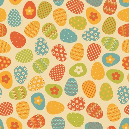 pasch: Seamless pattern con le uova di Pasqua colorate