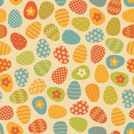 easter decorations: Seamless pattern with colorful Easter eggs