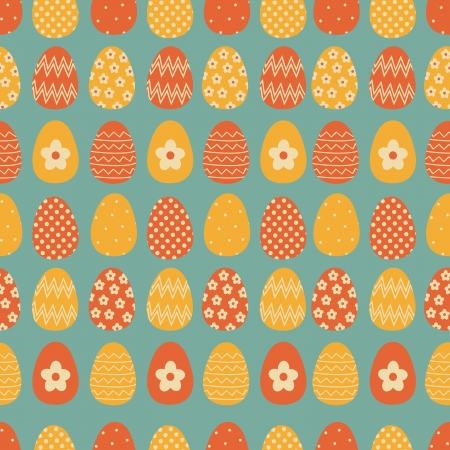 Seamless pattern with colorful Easter eggs  Stock Vector - 17928712