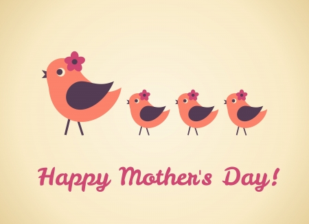mums: Greeting card design for Mother s Day Illustration
