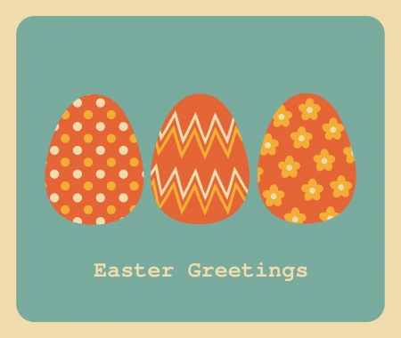 Retro style design for Easter greeting card. Stock Vector - 18156339