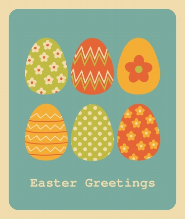 Retro style design for Easter greeting card. Stock Vector - 18156344