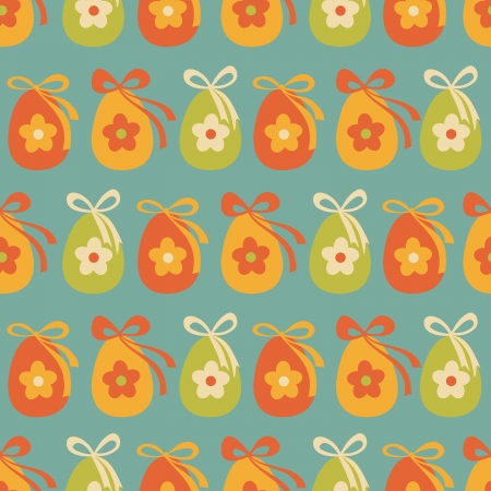 Seamless pattern with colorful Easter eggs. Stock Vector - 18156343